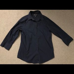 Jones New York Blue Button Up Shirt